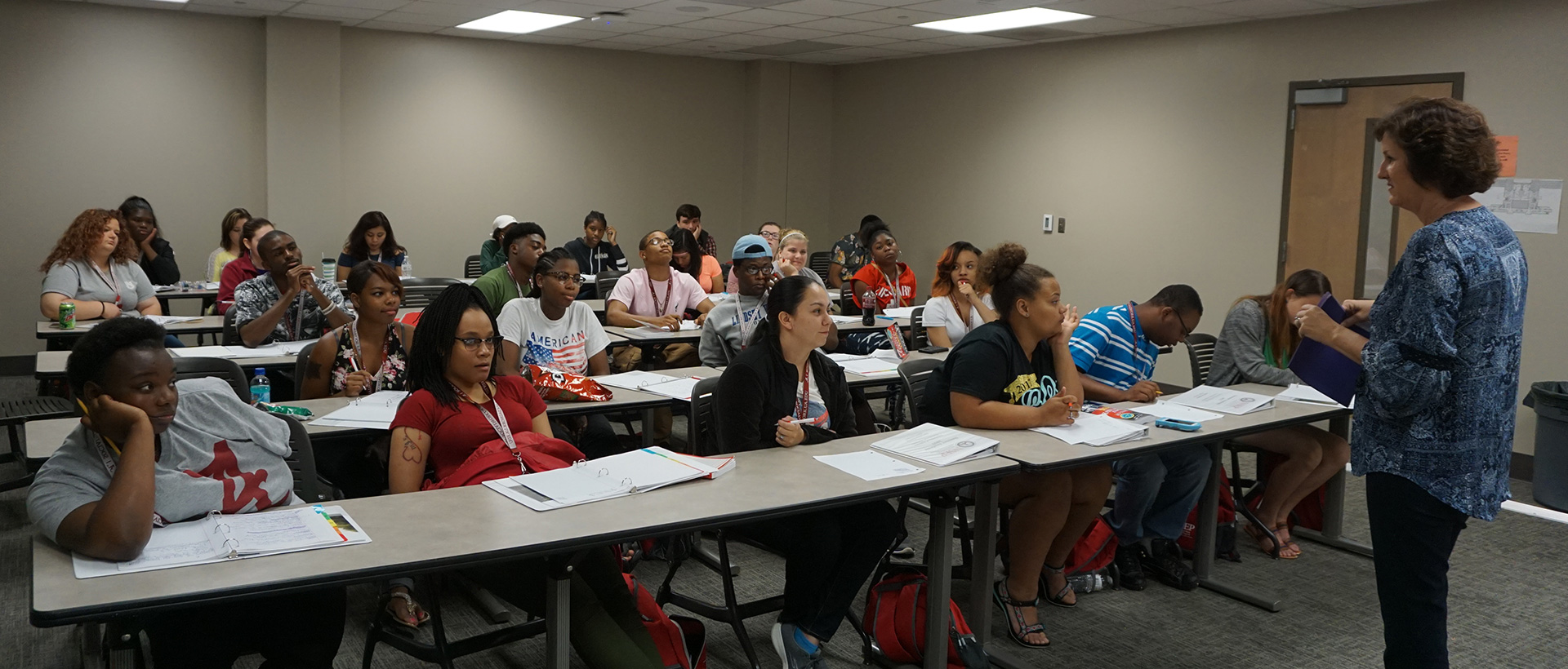 Youth experiencing college life first hand during a six week summer academy.